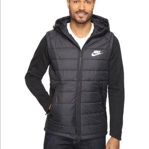 Nike Syn Down Vest Jacket Mens Small Black